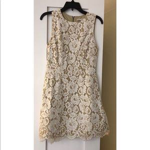 Alice and Olivia Ivory Lace Dress